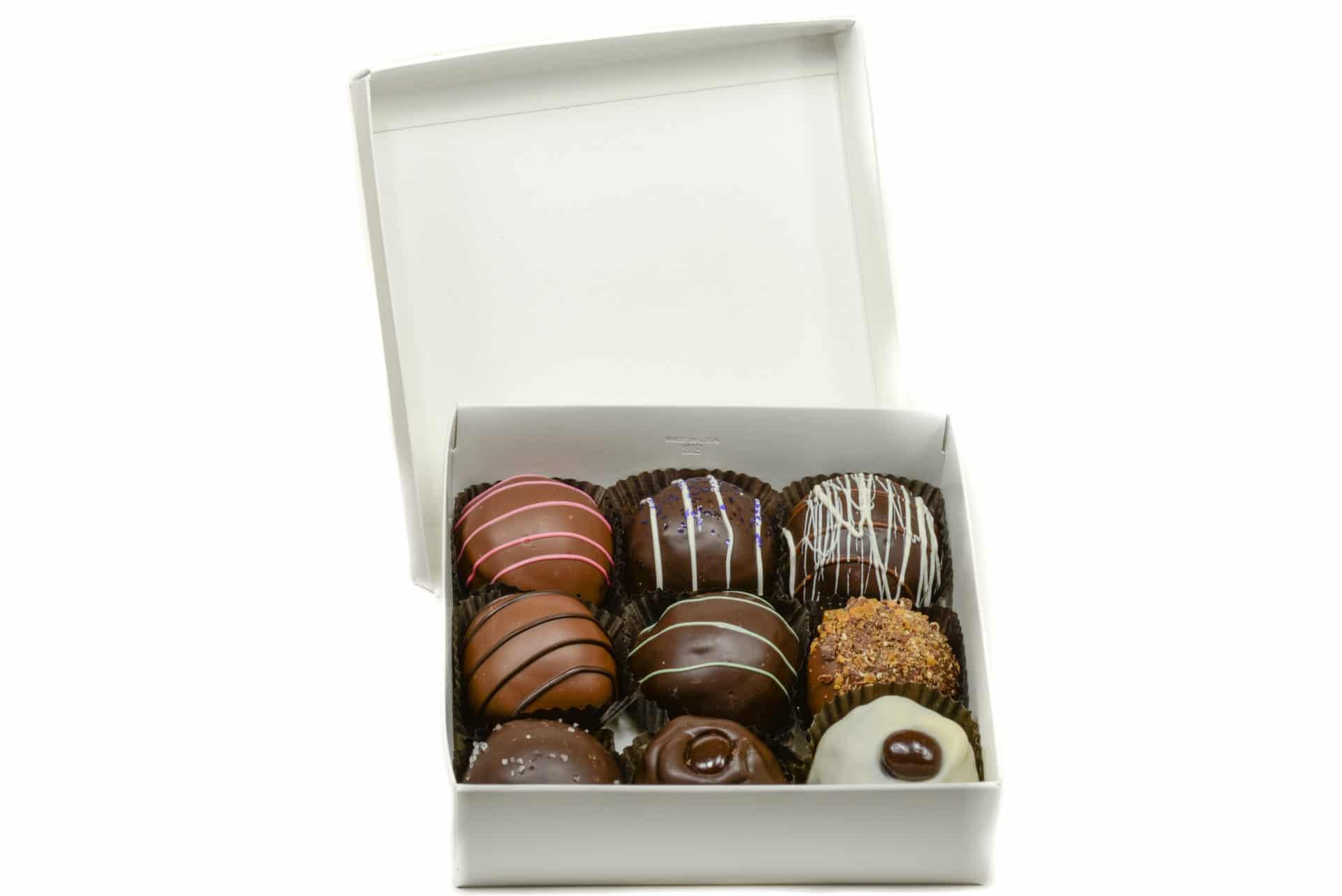 truffle box 9 piece alaskan fudge company